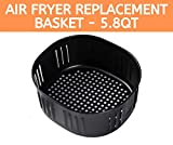 Air Fryer Replacement Basket For 5.5Qt / 5.8Qt Air Fryers and Air Fryer Ovens. Non-Stick Fry Basket, Dishwasher Safe,FDA Compliant