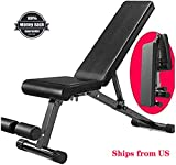 Suge Adjustable Weight Bench Heavy Duty - Utility Weight Benches for Full Body Workout, Incline/Decline Bench Press for Home Gym ( Color : Black )