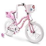 COEWSKE Kid's Bike Steel Frame Children Bicycle Little Princess Style 14-16 Inch with Training Wheel (Pink, 12 Inch)