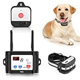 WIEZ Wireless Dog Fence with Additional Transmitter,2021 Upgraded Electric Dog Fence with Training Collar,Dual Antenna,Adjustable Range Control 100-990ft,IPX7 Waterproof,Rechargeable,Harmless for Dogs