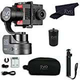 EVO SS 3 Axis Wearable Gimbal - Stabilizer for GoPro Hero4, Hero5, Hero6 Black, Yi 4K, Garmin Virb Ultra 30 - Bundle Includes - EVO SS Gimbal, EVO PA-100 Painter's Pole Adapter (2 Items)