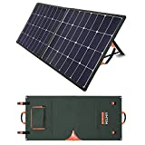 AIMTOM 100W Foldable Solar Panel, High Efficiency Monocrystalline Fast Charging Power Stations, Batteries, Laptops and Generators for Camping, RV, Travel and Outdoors, with 18V DC, USB, MC-4 Outputs