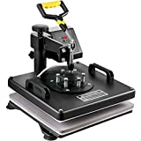 Mophorn Heat Press 15x15 Inch Heat Press Machine 5 in 1 Multifunctional Sublimation Dual LED Display Heat Press Machine for t Shirts Swing Away Design