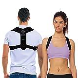 Shoulder & Back Brace Posture Corrector for Women and Men by BRANFIT, Breathable Posture Trainer, Neck Brace and Back Posture Corrector for Upper Back & Neck Pain Relief