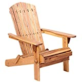 Plant Theatre Adirondack Chair - Acacia Hardwood Patio, Garden & Fire Pit Chairs for Outdoor Seating