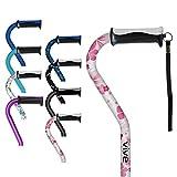 Vive Walking Cane - for Men & Women - Portable, Adjustable Offset Balance Stick - Lightweight & Sturdy Mobility Walker Aid for Arthritis, Elderly, Seniors & Handicap (White Floral)