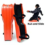 Sled Legs Wearable Snow Sleds – Fun Winter Accessories with Leg Support – Family Friendly Winter Activities – Exciting Winter Fun in The Snow (Hot Orange, Small) …