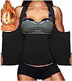 LODAY Womens Shapewear Weight Loss Neoprene Sauna Sweat Waist Trainer Corset Tank Top Vest Sport Workout Slimming Body Shaper (Black(Underwear Vests, 3XL (US 22))