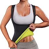 Neoprene Sauna Sweat Vest Waist Trainer Slimming Vest for Women Workout Waist Shaper Belt for Women (XXL, Black Sauna Top)