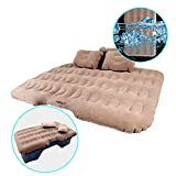 HIRALIY Inflatable Car Air Mattress Camping Travel Air Bed Back Seat Extended Mattress Air Couch with Car Air Pump