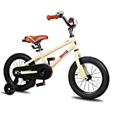 JOYSTAR 18 Inch Kids Bike for 5 6 7 8 9 Years Old Girls & Boys, Unisex Child Bicycle with Kickstand, Beige