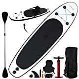 10' Inflatable Stand Up Paddle Board/Kayak and SUP! (6 Inches Thick, 32 Inch Wide Stance Width)  11-Piece Accessory Set That Includes Convertible Paddle, Kayak Seat, Travel Backpack, and More!