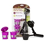Perfect Pod ECO-Fill Reusable K-Cup Pod Filters and Coffee Scoop, Value Pack | Compatible with Keurig K-Duo, K-Mini, 1.0, 2.0, K-Series and Select Single Cup Coffee Makers