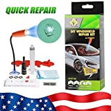 2020 Newest DIY Windshield Repair Kit, Fast Repair, Car Glass Repair Tool Set for Half-Moon Cracks and The Combination Cracks, with UV Curing Light