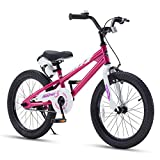 RoyalBaby Kids Bike Boys Girls Freestyle BMX Bicycle With Kickstand Gifts for Children Bikes 18 Inch Fuchsia