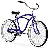 Firmstrong Urban Man Beach Cruiser Bike, Mens Bicycle 26-Inch, 1-Speed, Royal Blue