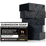 Premium Tea Tree Oil Soap - With Activated Charcoal! 100% All Natural USA Made Bars for BJJ, Jiu Jitsu, Wrestling (5-Pack of 4 Ounce Soap Bars)