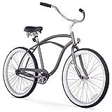 Firmstrong Urban Man Beach Cruiser Bike, Mens Bicycle 26-Inch, 1-Speed, Matte Grey
