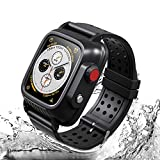 Waterproof Apple Watch Case 38mm Series 3 with 3 Soft Silicon Band, Meritcase IP68 iWatch Waterproof Case with Built-in Screen Protector for 38MM Apple Watch Series 3