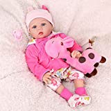 CHAREX Realistic Reborn Baby Dolls, Toddler Reborn Baby Dolls for Girls, Weighted Newborn Dolls with Giraffe Gift Set for Ages 3+