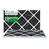 FilterBuy Allergen Odor Eliminator 14x30x1 MERV 8 Pleated AC Furnace Air Filter with Activated Carbon - Pack of 2-14x30x1