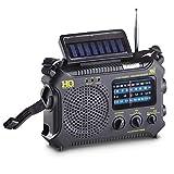 HQ ISSUE Dynamo Emergency Radio Hand Crank Solar Portable W/AM FM, NOAA Weather Alert, Shortwave, & Flashlight, Black