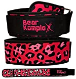Bear KompleX 4' Straight Weightlifting Belt for Powerlifting, Squats, Weight Training & More. Low Profile with Super Firm Back for Maximum Stability & Exceptional Comfort. Straight Pink S
