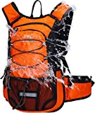 Mubasel Gear Insulated Hydration Backpack Pack with 2L BPA Free Bladder - Keeps Liquid Cool up to 4 Hours – for Running, Hiking, Cycling, Camping (Orange)