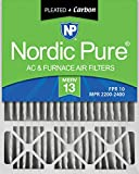 Nordic Pure 20x25x5HM13+C-1 Honeywell Replacement MERV 13 Plus Carbon AC Furnace Air Filter