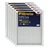 Filtrete MPR 1900 16 x 20 x 1 Healthy Living Ultimate Allergen Reduction AC Furnace Air Filter, Captures Fine Inhalable Particles like Bacteria & Viruses, 6-Pack