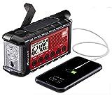 Midland - ER310, Emergency Crank Weather AM/FM Radio - Multiple Power Sources, SOS Emergency Flashlight, Ultrasonic Dog Whistle, & NOAA Weather Scan + Alert (Red/Black)