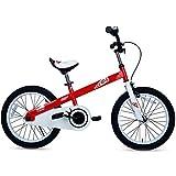 RoyalBaby Boys Girls Kids Bike 18 Inch Honey Bicycles with Kickstand Child Bicycle Red