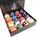 JaperBees Premium Professional Pool Table Billiard Ball Set, Regulation Size Resin Ball …
