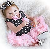 Full Body Silicone Reborn Baby Dolls Girl Realistic Anatomically Correct Vinyl Silicone Baby Girl Reborn Doll 22 Inch Eyes Open