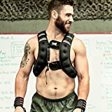 OneFitWonder 20 Lb Exercise Weight Vests/Adjustable Weighted Vest for Fitness & Workout Vest Training (M/L) / WODmaster Weight Vest is Designed to Hug The Body and Features 6 Points of Adjustment