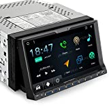 Pumpkin Android Auto Android 7.1 Car Stereo Double Din with GPS and WiFi, Bluetooth, Support Fastboot, Backup Camera, Touch Screen, MirrorLink, USB/SD, OBD2, AUX (Android 6.0)