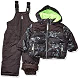 Osh Kosh Baby Boys Ski Jacket and Snowbib Snowsuit Set, Print Fall, 12Mo