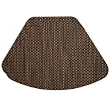Sweet Pea Linens Driftwood (Black & Tan) Wipe Clean Wedge-Shaped Placemats - Set of Two