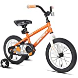 JOYSTAR 12 Inch Pluto Kids Bike with Training Wheels for Ages 2 3 4 Year Old Boys Girls Toddler Children BMX Bicycle Orange
