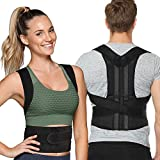Back Posture Corrector for Women and Men, Back Braces for Upper and Lower Back Pain Relief, Adjustable and Fully Back Support improve Back Posture and provide Lumbar Support (S, 23.5'-30' Waist)