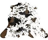 Cow Print Rug Faux Cowhide Area Carpet Animal Print Mat for Living Room Bedroom Non-Slip 3.6x2.5FT (110cmx75cm)