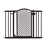"""Summer Modern Home Decorative Walk-Thru Baby Gate, Metal with Bronze Finish, Decorative Arched Doorway - 30"""" Tall, Fits Openings up to 28"""" to 42"""" Wide, Baby and Pet Gate for Doorways and Stairways"""
