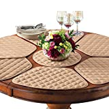 Collections Etc Kitchen Table Placemat and Centerpiece Set - 7 Pc, Beige