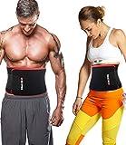 Waist Trimmer Belt, Ab Trainer, Slim Body Sweat Wrap, Training Sauna Suit Corset Black