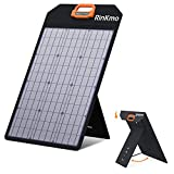 RINKMO 50W Solar Panel, Portable Solar Panels Battery Charger with Light Strength Sensor, Support 2-4 Parallel to Increase Power(200w Max), IP65 Waterproof, Portable Solar Generator for Camping RV