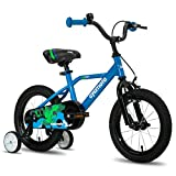 cycmoto Hawk 16' Kids Bike with Hand Brake & Training Wheels for 4 5 6 Years Boys, Toddler Bicycle Blue
