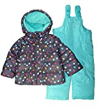 Carter's Baby Girls Heavyweight Jacket and Pants Snowsuit, Hearts on Pink Blush, 12 Months