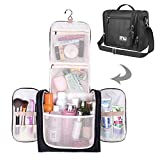 MelodySusie Premium Hanging toiletry bag, Large Travel Cosmetic, Toiletries, Makeup, Brushes Bag, Waterproof Portable Bathroom and Shower Organizer Kit for Women and Men