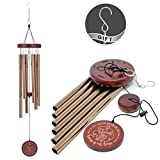 COOME Memorial Wind Chimes Outdoor Large Deep Tone 30 Inch Sympathy Wind Chimes with 6 Aluminum Tubes & Hook Keepsake Present for Loss of Loved One, Outdoor Decor for Yard, Patio, Garden