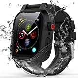 YOGRE for Apple Watch Case Series 6/5/4/SE 44mm, IP68 Waterproof Shockproof Anti-Scratches Built-in Screen Protector Apple Watch All Round Protector Case (Add one Silicone Band)